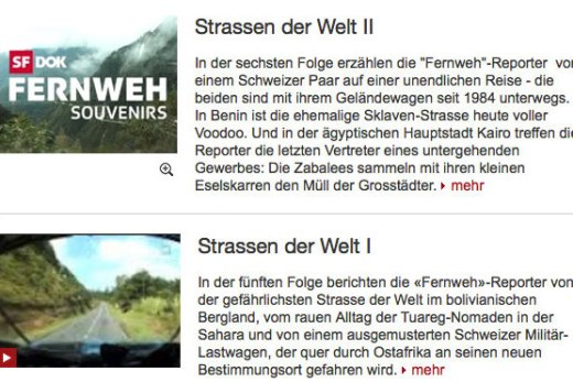 Screenshot Ausschnitt Webseite Fernweh 12