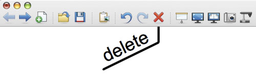 Delte knop in Notebook