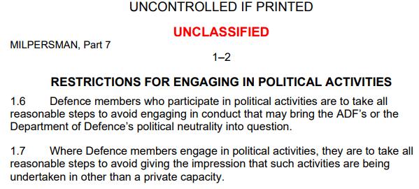 Political activity MILPERSMAN