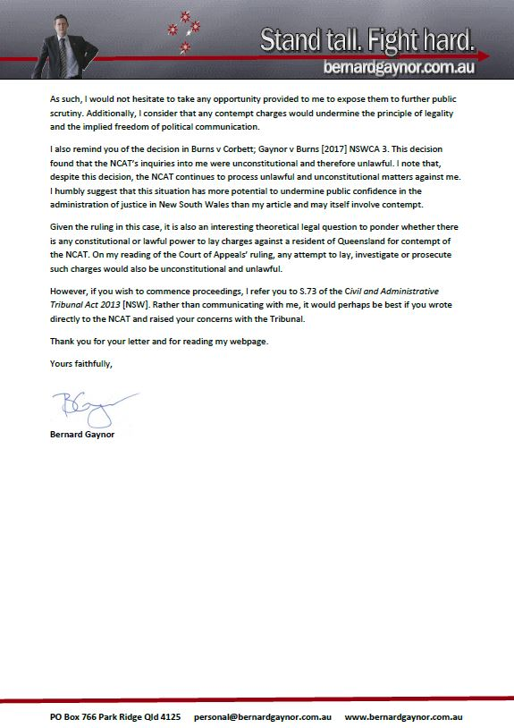 BG Letter 2
