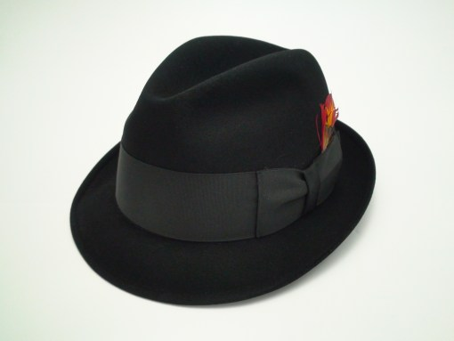 Resistol 990 5X Beaver Kitten Finish Self Conforming Black Fur Felt Fedora Hat
