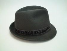 Dobbs Fifth Avenue New York Charcoal Fur Felt Fedora Trilby Hat