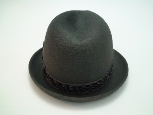 Dobbs Fifth Avenue New York Charcoal Fur Felt Fedora Trilby Hat