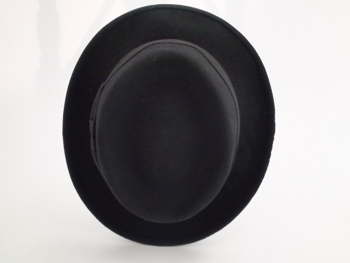 Portis Hats The Royalist Tru-Form Black Pork Pie Fedora Hat