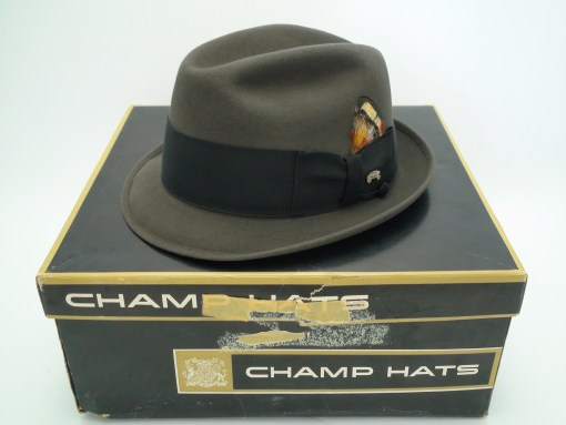Champ Hats Feel The Felt Kasmir Finish Gray Fur Felt Trilby Fedora Hat