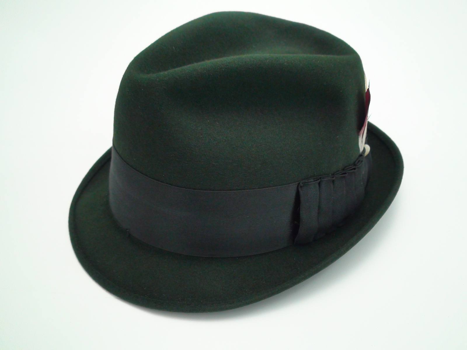 Adam Fifth Avenue New York Black Fur Felt Fedora Trilby Hat e17aa146f349
