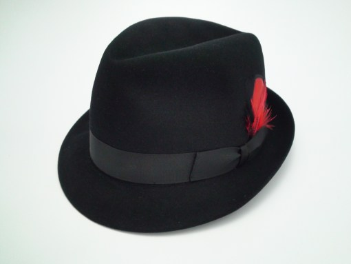 Adam Hats Fifth Avenue Premier Harvard 40 Black Fur Felt Fedora Hat