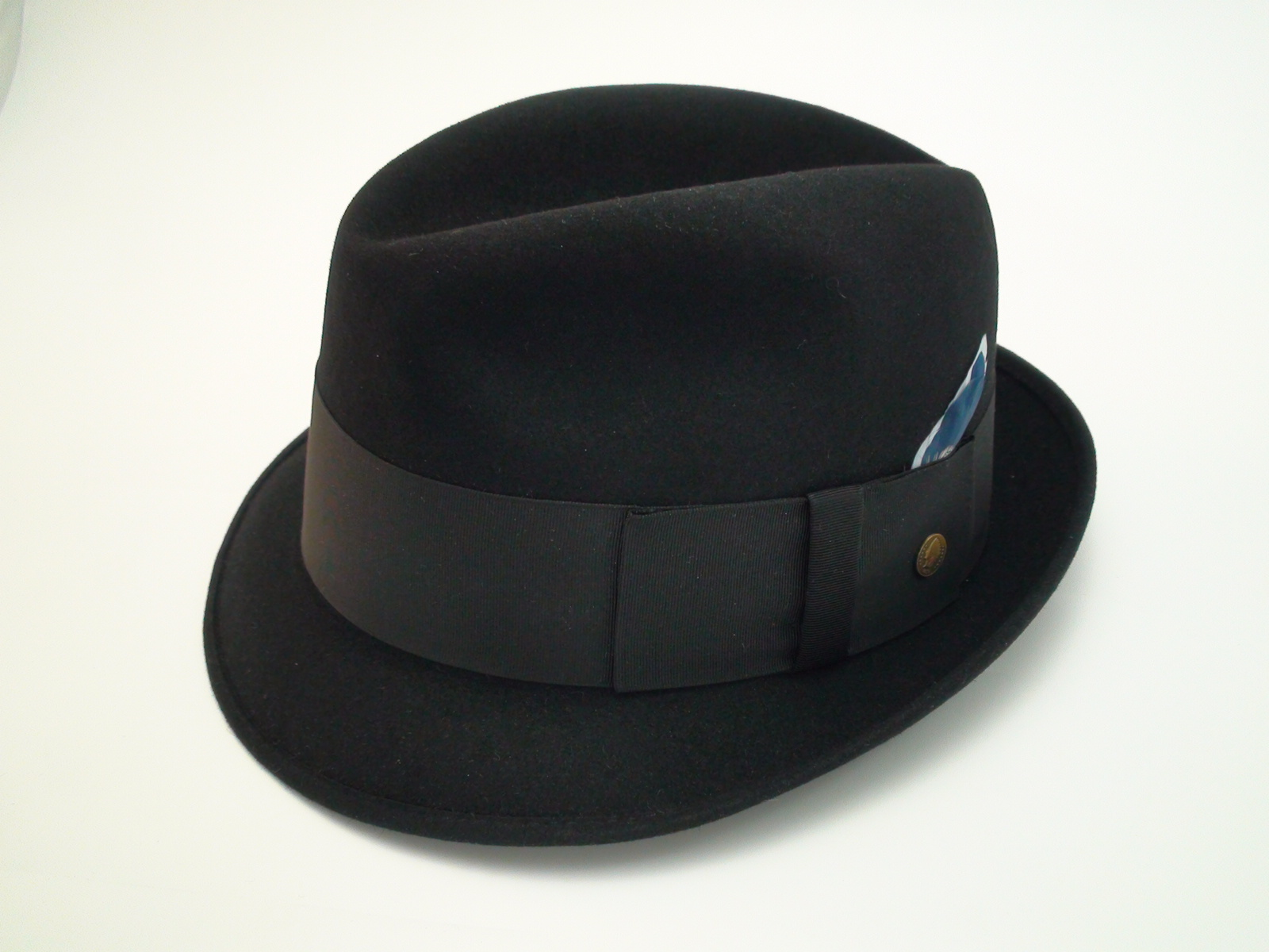 dee3900b20b Vintage Champ Hats Kasmir Finish Black Fur Felt Fedora Hat Size 7 1 8″
