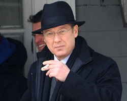 James Spader Rocking a Fedora While Filming The Blacklist