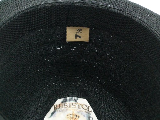 Resistol Self-Conforming Black Straw Fedora Hat