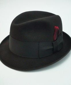 Knox New York Fedora Black Fur Felt Hat