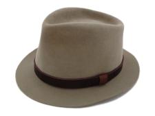 Stetson Clayton Sand Pebble 4X Beaver Western Fedora Hat