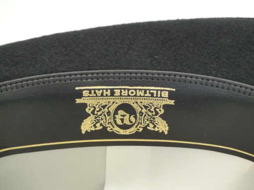 Biltmore Hats Royal Fedora Black Fine Fur Felt Stingy Brim Hat