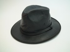 Wilsons Genuine Leather Crushable Black Safari Fedora Hat