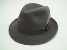 Beaver Brand Hats Steel Grey Fur Felt Fedora Hat