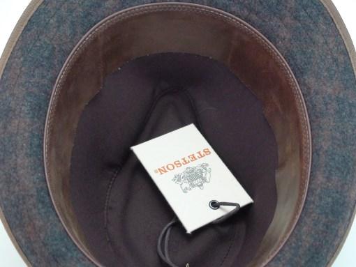 Stetson Kondor Brown Plaid Wool Blend Trilby Fedora Hat