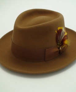 Royal Biltmore Hat Pecan Brown Fur Felt Fedora