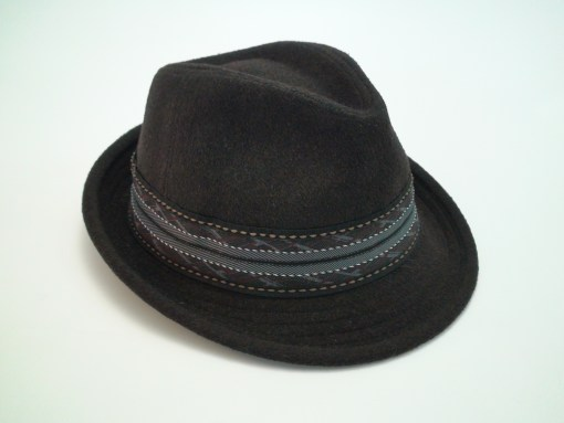 Stetson Wool Blend Brown Trilby Fedora Cloth Hat
