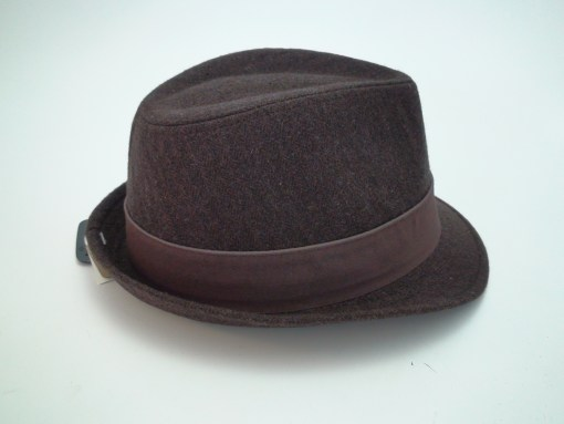 Stetson All American Brown Herringbone Wool Blend Trilby Fedora Hat