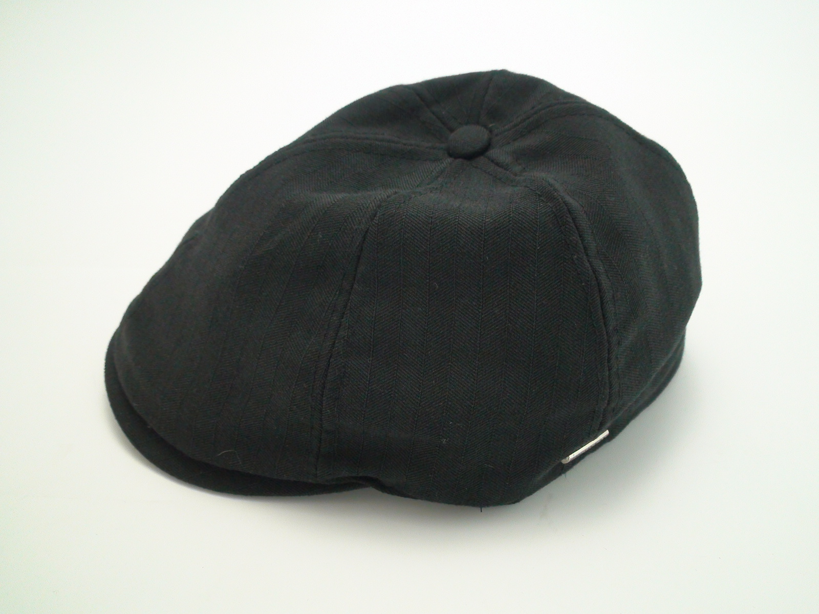 f81f531787092 NEW Stetson Ivy Black Polyester Jacquard Lining Driving Flat Cap Size Large