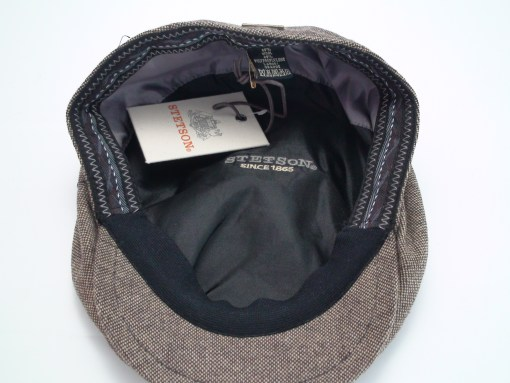 Stetson Ivy Brown Herringbone Wool Blend Flat Cap