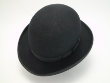 The Chaplin Custom Made Beaver Fur Felt Bowler Derby Movie Hat
