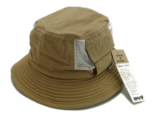 Adams Khaki 100% Cotton Vented Outdoor Fishing Bucket Hat