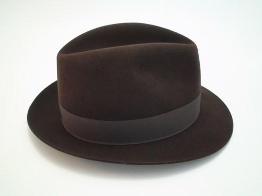 Biltmore Hats Governor Brown Stingy Brim Fur Felt Fedora Hat