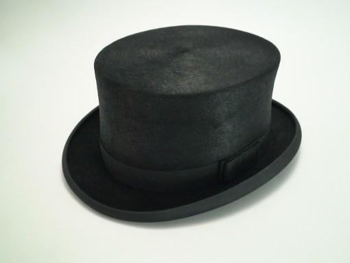 Christys London Handmade 100% Fine Fur Felt Black Dressage Top Hat