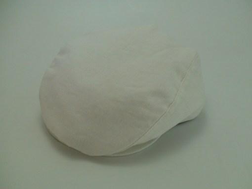 Capas Ivy Cap White 100% Linen Golf Newsboy Flat Cap
