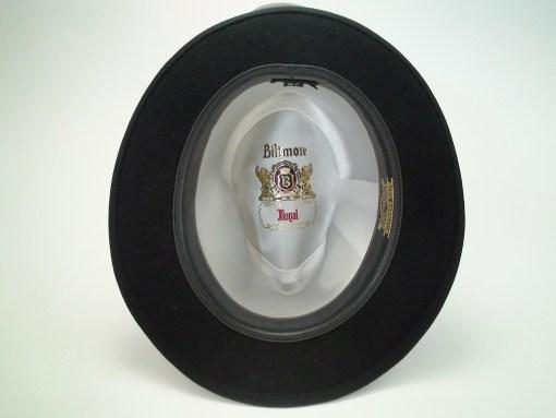 Biltmore Hats Royal Black Fine Fur Felt Fedora Hat