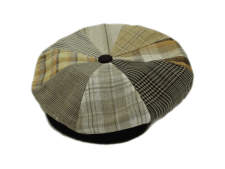 Capas Big Apple 100% Linen Patchwork 8 Panel Newsboy Flat Cap