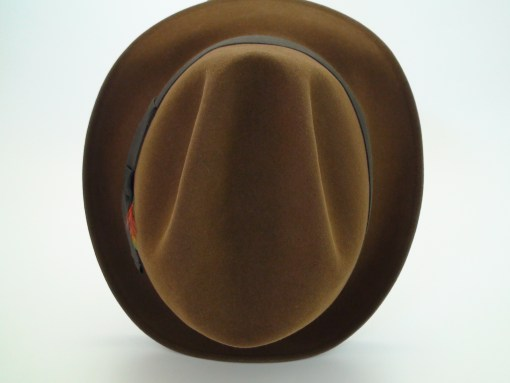 Resistol 3X Beaver Brown Kitten Finish Fur Felt Fedora Hat
