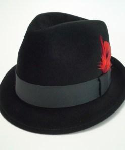 Biltmore Hats Royal Black Fur Felt Stingy Brim Fedora Hat