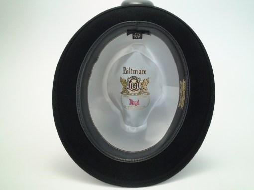 Biltmore Hats Royal Black Fur Felt Stingy Brim Fedora Hat