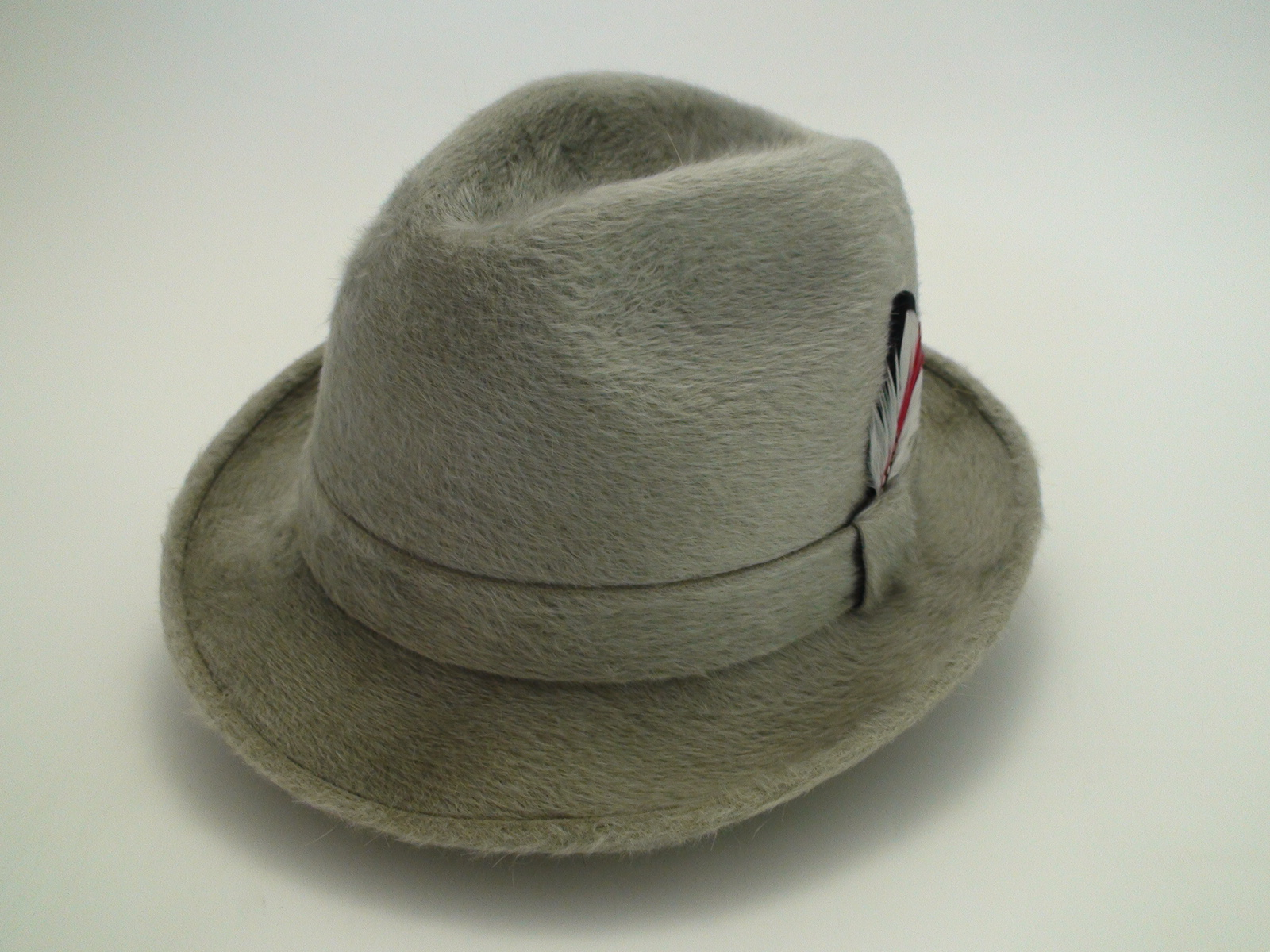 488ae2b0e0a Vintage Stetson Playboy Canadian Beaver DeLuxe Finish Silver Fedora Hat  Size 7 1 8″