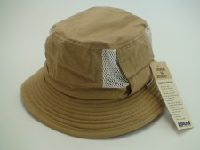 Adams Khaki 100% Cotton Vented Outdoor Fishing Bucket Hat