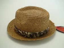 Tommy Bahama Relax Natural Raffia Straw Fedora Hat