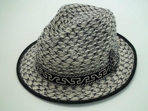 Santana Hats Shaman Black White Panama Fedora Hat
