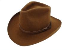 Churchill Hats Western Brown Fur Felt Cowboy Hat