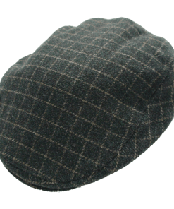 Stetson Boston Italy Black Wool Ivy Flat Cap with Earflaps