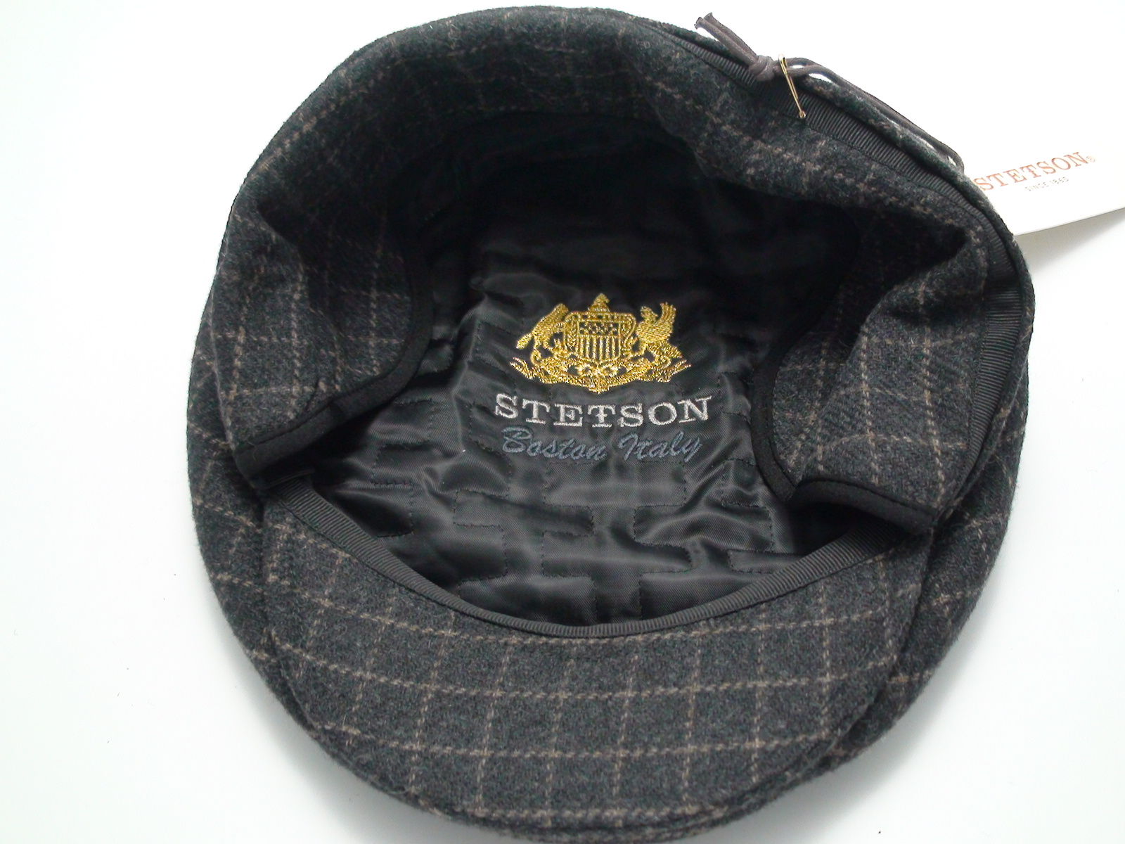 c3460403 Stetson Flat Cap With Ear Flaps