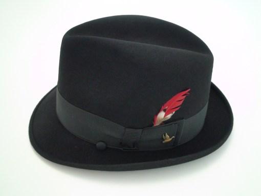 Champ Hats Fedora Kasmir Finish Black Fur Felt Hat