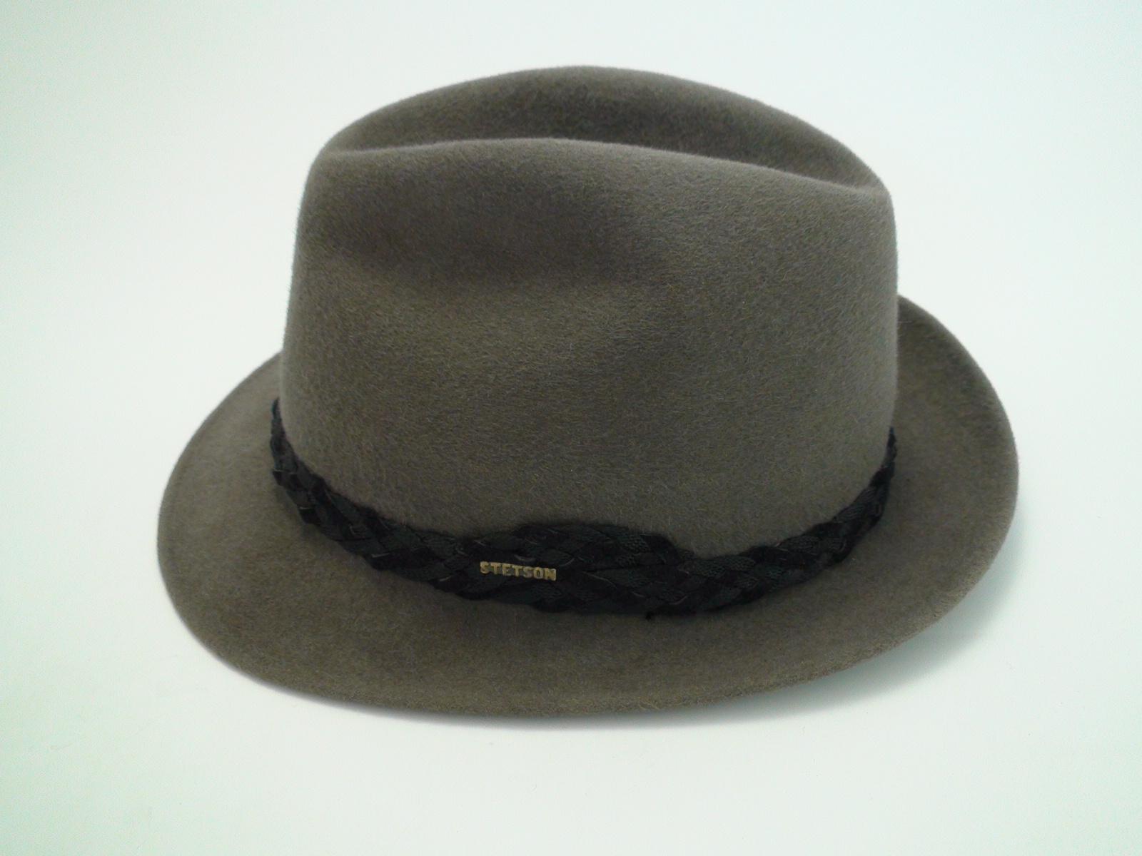 2929c9f5764f41 Vintage Stetson Royal De Luxe Grey Fur Felt Fedora Hat Size 7 3/8″