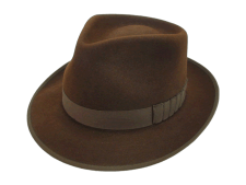 The Pacesetter Custom Made Beaver Fur Felt Fedora Hat