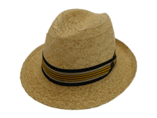 Biltmore Hats Optimo Natural Genuine Raffia Panama Fedora Hat