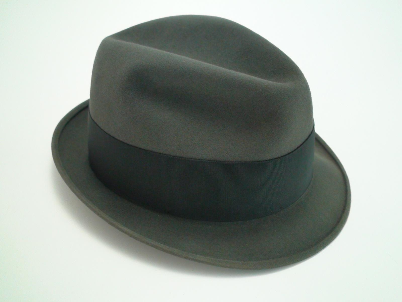 b2355c77c333b Stetson 3X Beaver Grey Fedora Quality Fur Felt Hat