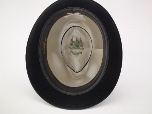 Adam Hats Premier Black Fur Felt Fedora Hat