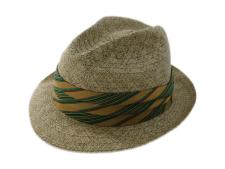 Biltmore Florino Olive Natural Straw Fedora Hat