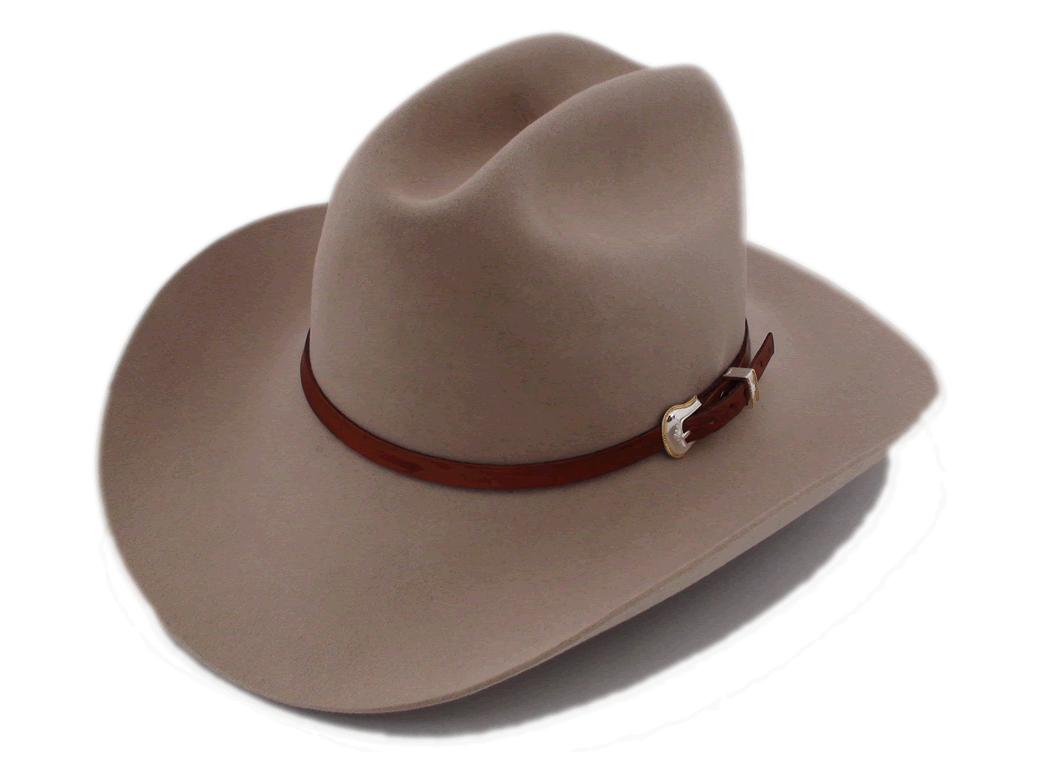 Vintage Stetson Marshall 4X Beaver Silverbelly Fur Felt Cowboy Hat Size 7  1 8″ 144227ca966